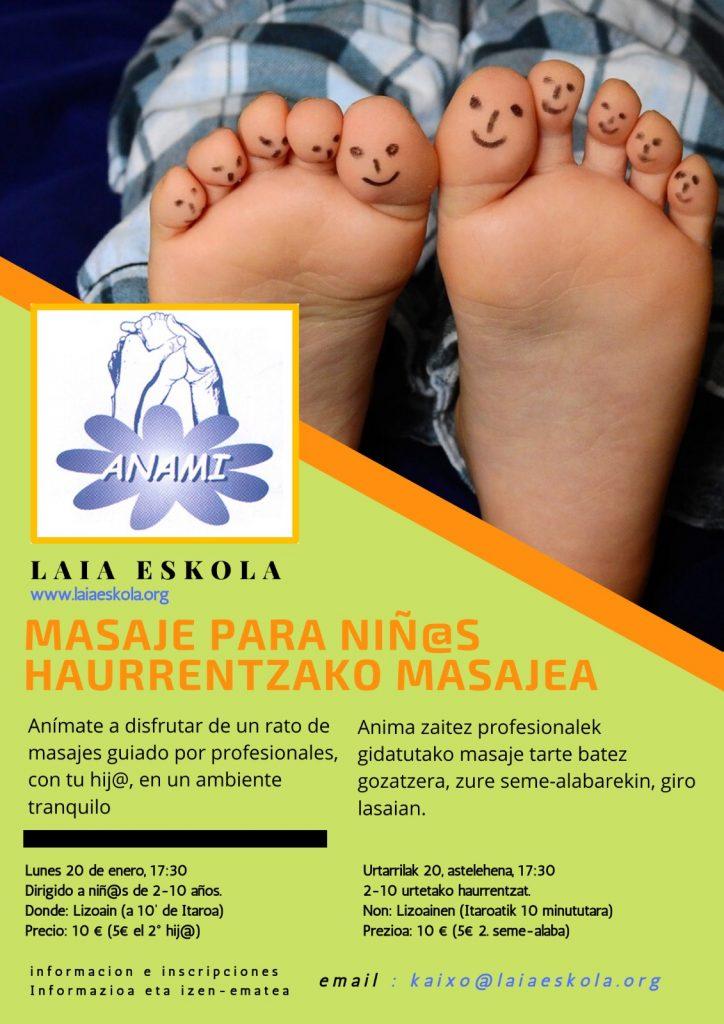 taller de masaje para niños impartido por ANAMI
