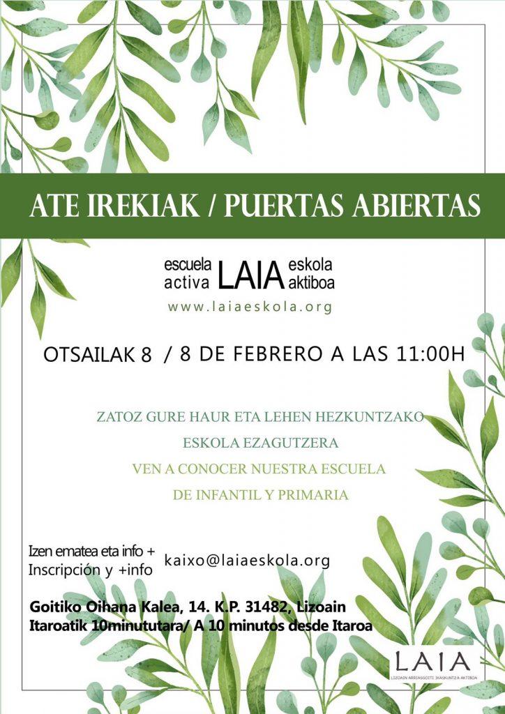 Masaje para niños en Laia Eskola impartido por ANAMI